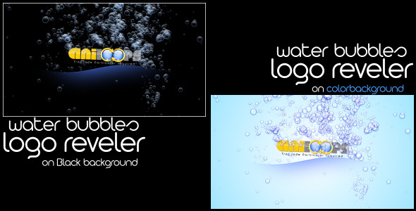 After Effects Project - VideoHive Water Bubbles Logo reveler 1459947