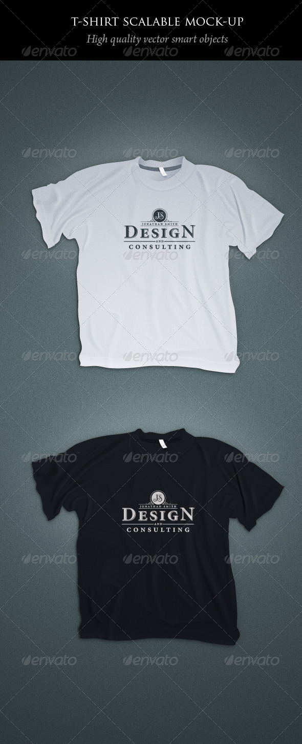 GraphicRiver Scalable T-shirt Mockups 1462788