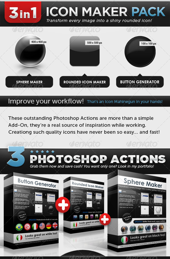 GraphicRiver Icon Maker Pack Buttons Spheres Rounded Icons 151701