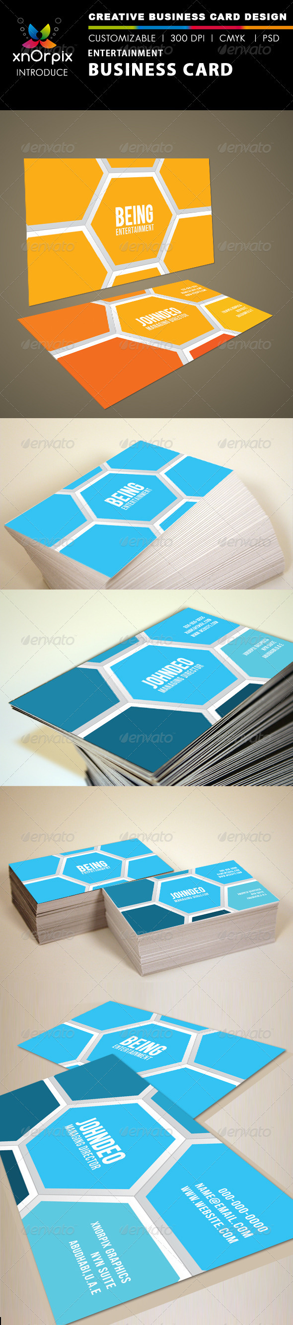 GraphicRiver Entertainment Business Card 1464250