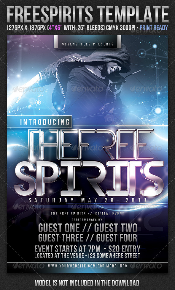 GraphicRiver FreeSpirits Flyer Template 168401