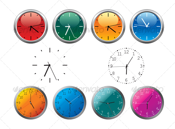 GraphicRiver Office clocks and dial 57909
