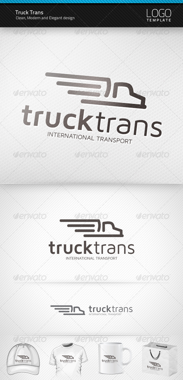 Graphic River Truck Trans Logo Logo Templates -  Objects 1467463