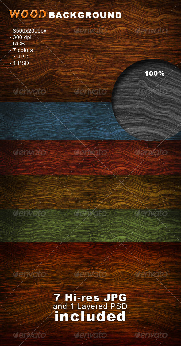 GraphicRiver Wood Background 1467470