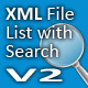 XML File List with Search V2  - ActiveDen Item for Sale