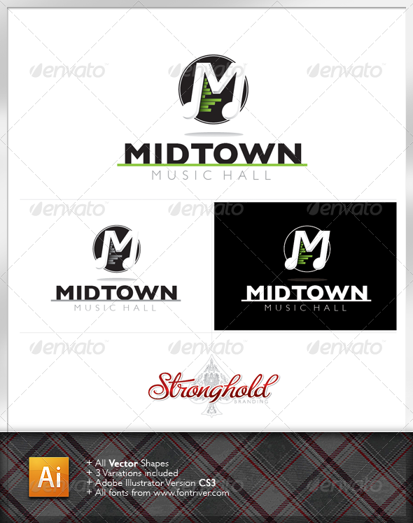 Graphic River Music Systems Logo Logo Templates -  Letters 1470149