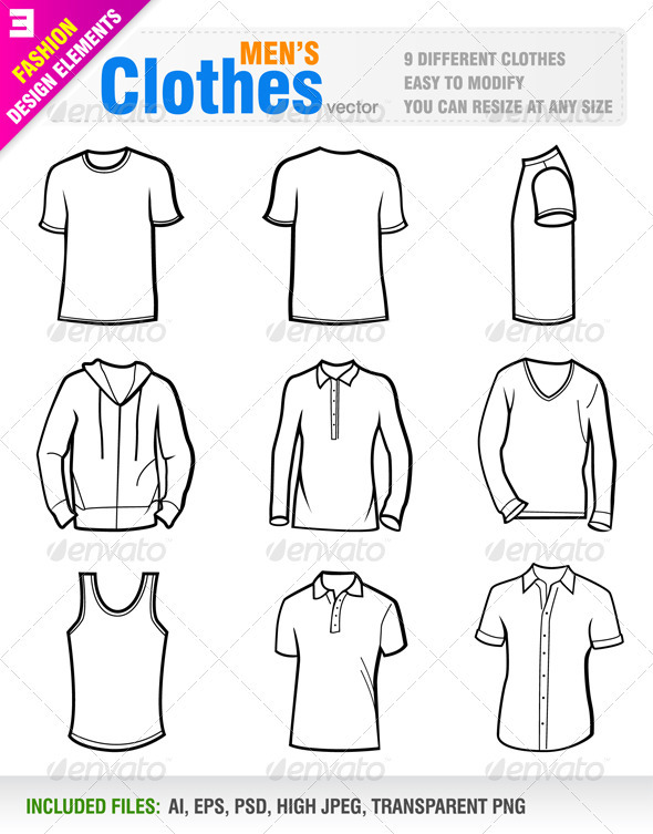 GraphicRiver Men's Clothes 1470160