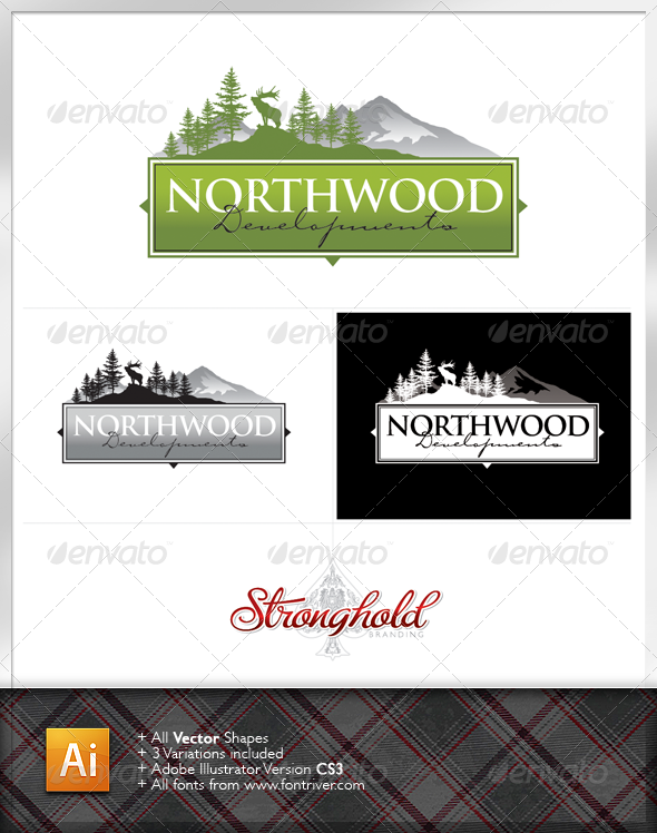 Graphic River Northwood Developments Logo Logo Templates -  Crests 1470789