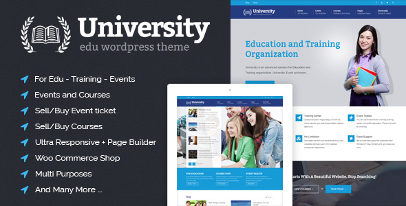University Education Event And Course Theme By