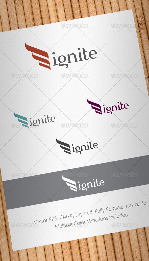 Graphic River Ignite Logo Template Logo Templates -  Abstract 1465481