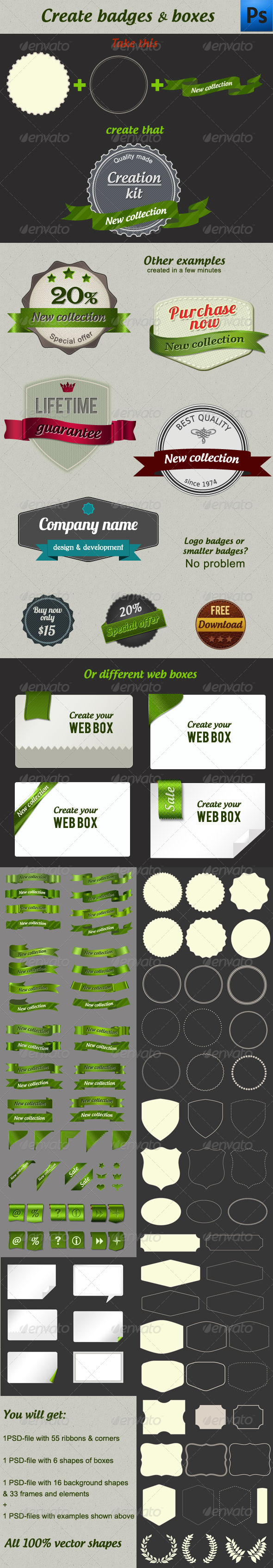 GraphicRiver Creation Kit Badges & Boxes 1476041