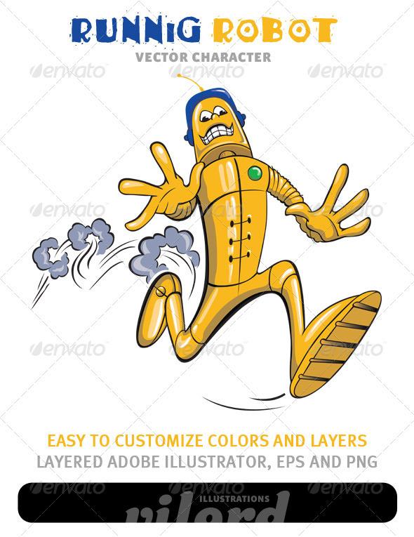 GraphicRiver Running Robot Mascot 1479086