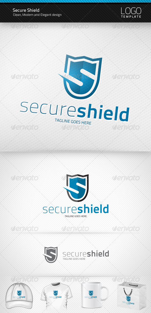 GraphicRiver Secure Shield Logo 1481324