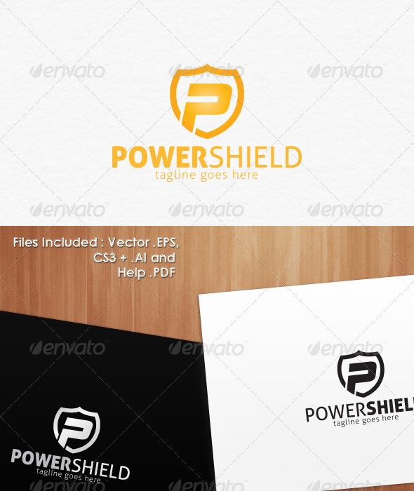 GraphicRiver Power Shield Secure Logo Design 1481367