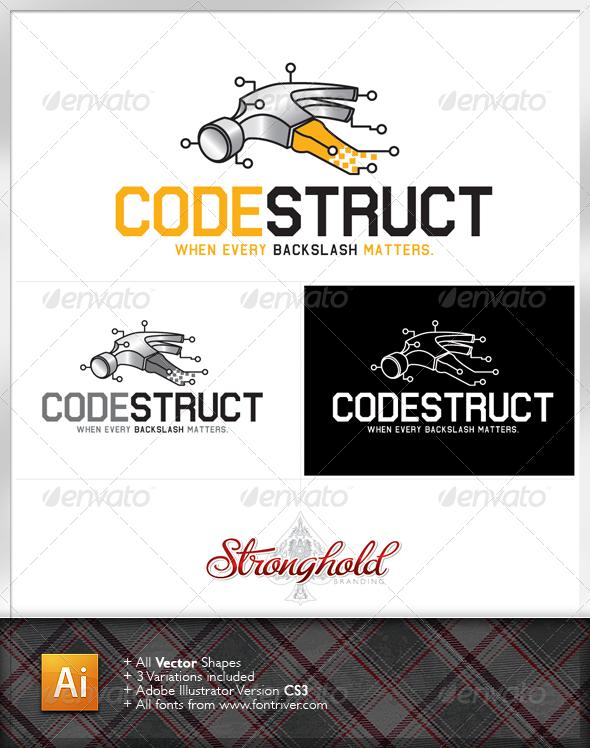 Graphic River Codestruct Logo Logo Templates -  Symbols 1481465