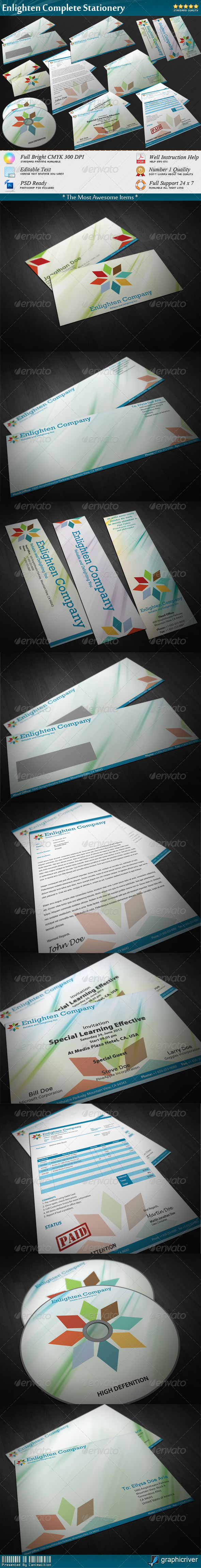 GraphicRiver Enlighten Complete Stationery 1481629
