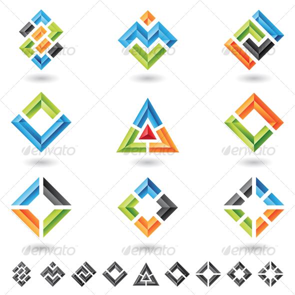 GraphicRiver squares rectangles triangles 57073