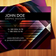 Stunning Retro Business Cards in 6 colors - GraphicRiver Item for Sale