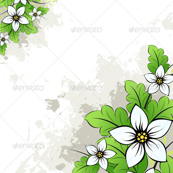 Graphic River Grunge Floral Background Vectors -  Decorative  Backgrounds 1485049