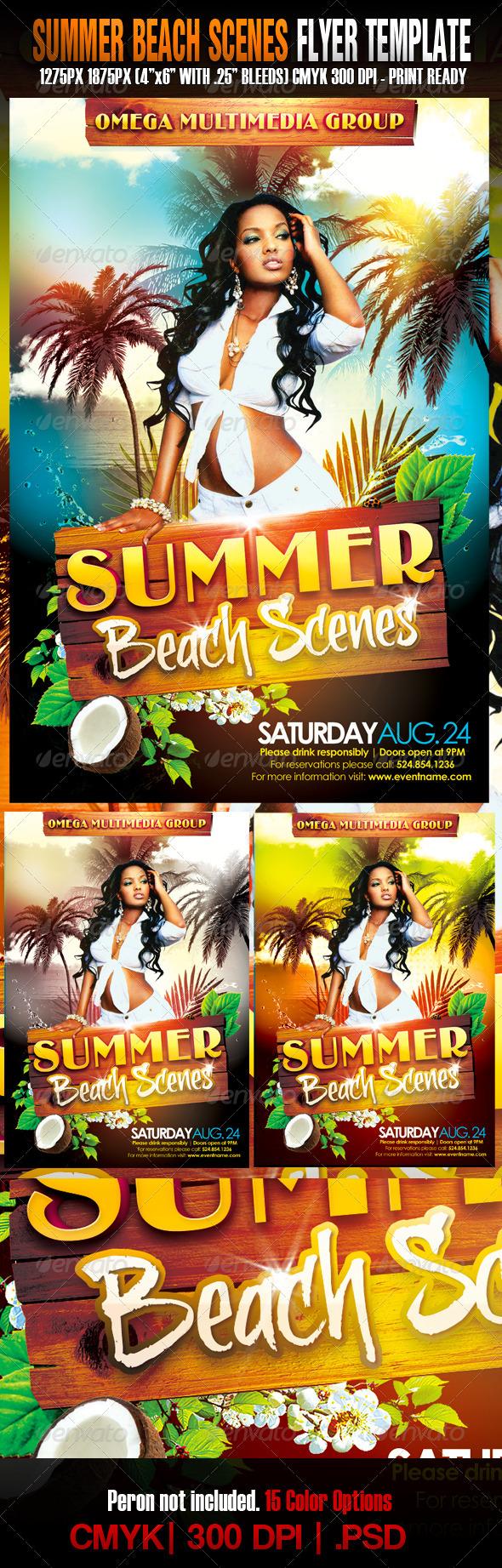 GraphicRiver The Summer Beach Scenes 1485935