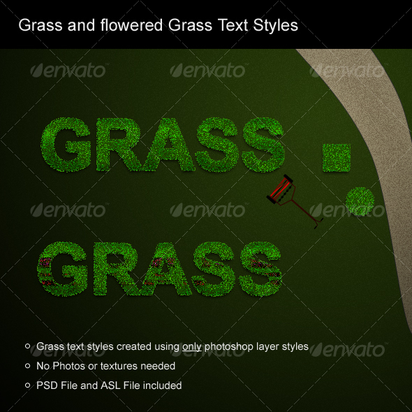 GraphicRiver Grass and flowered grass text styles 58642