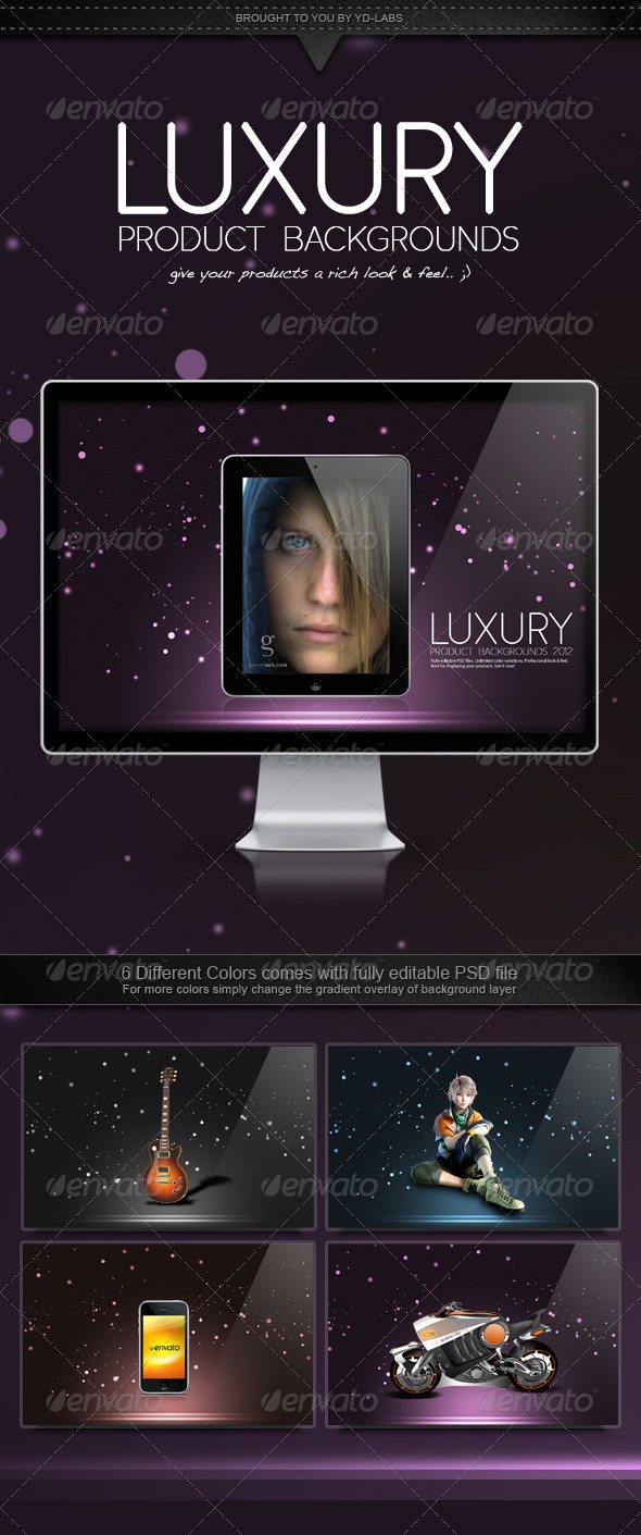 GraphicRiver Luxury Product Backgrounds 1486682