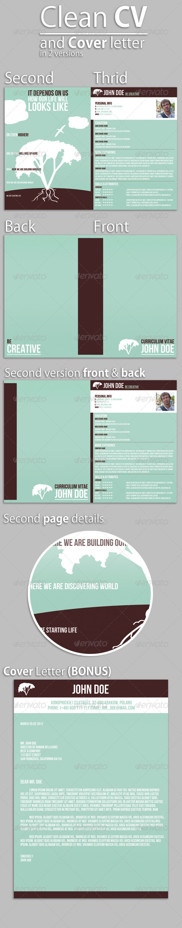 GraphicRiver Clean CV & Cover Letter 1486686