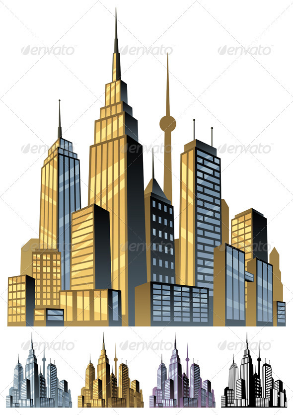 Graphic River City Vectors -  Objects  Buildings 1487199