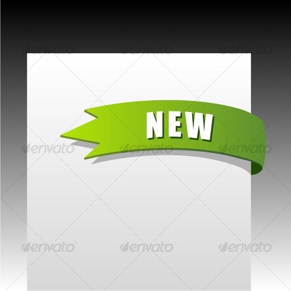GraphicRiver New green corner business ribbon 58714