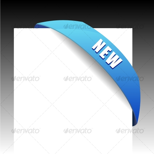 GraphicRiver New blue corner business ribbon 58716