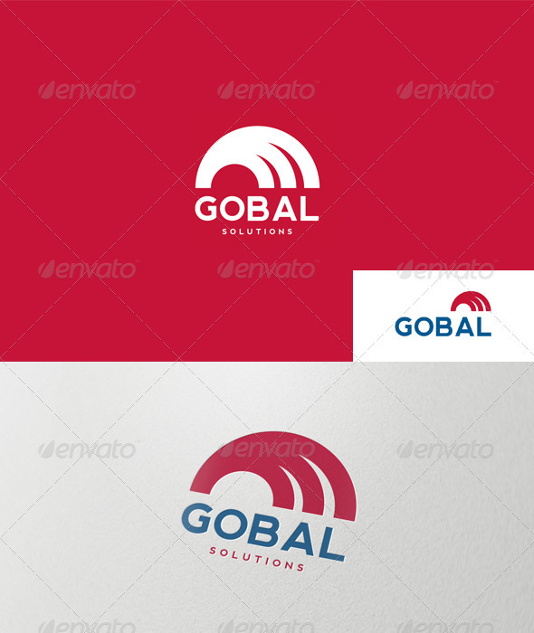 GraphicRiver Abstract Semicircle Logo 1488875