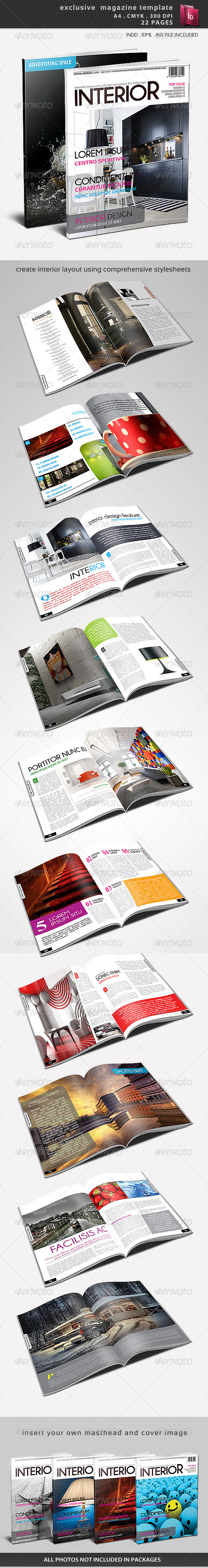 Graphic River Exclusive Magazine Template Print Templates -  Magazines 1490266