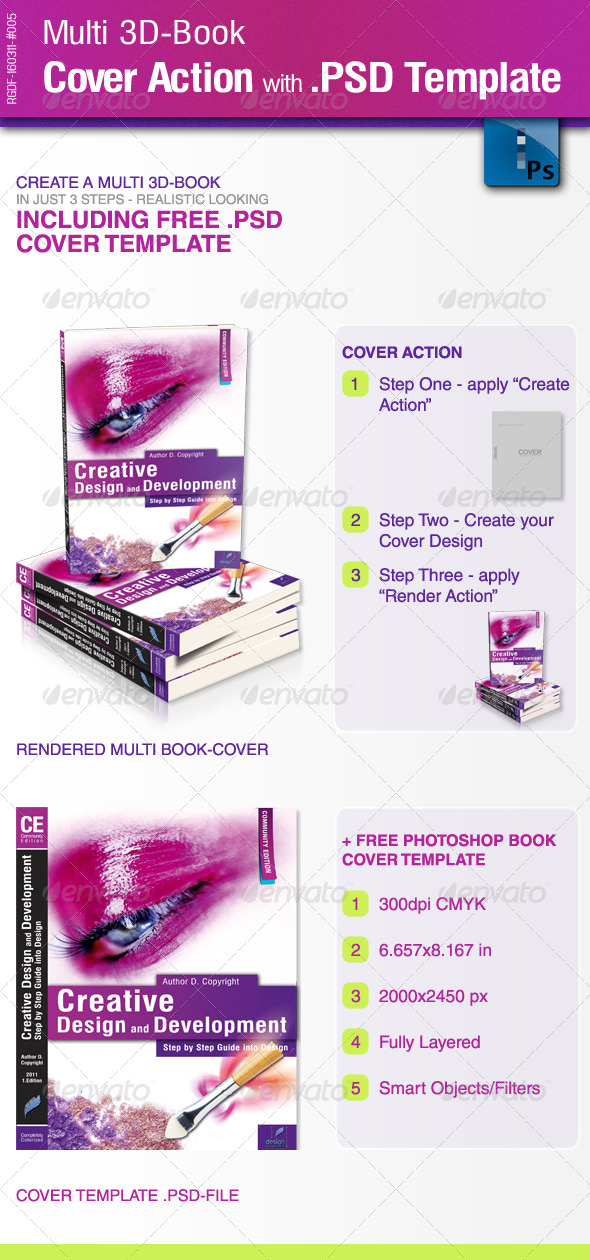 GraphicRiver Multi 3D-Book Cover Action with PSD-Template 176501