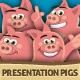 Presentation Pigs Character Illustrations - GraphicRiver Item for Sale