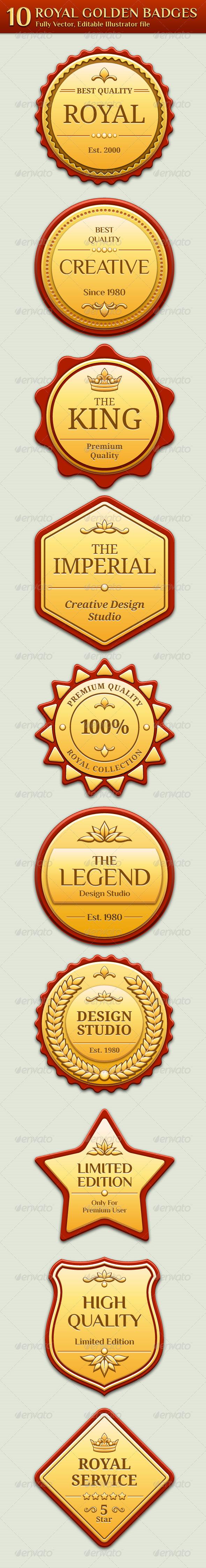GraphicRiver Royal Golden Badges 1468714