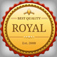 Royal Golden Badges - GraphicRiver Item for Sale