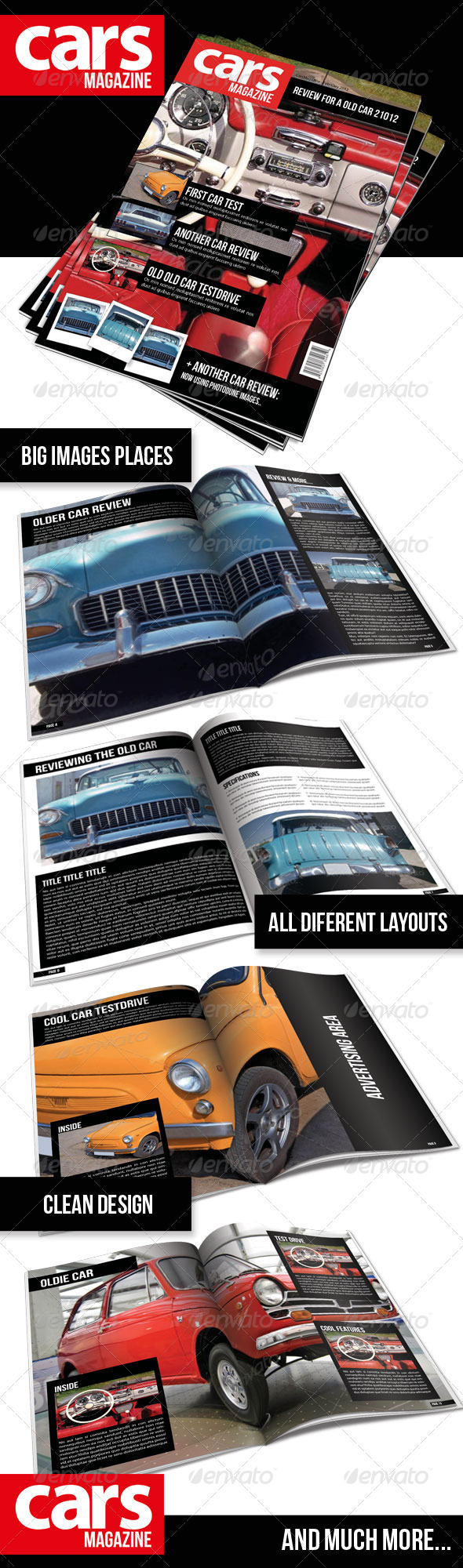 GraphicRiver Cars Magazine Indesign Template 1488065