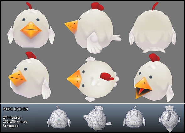 3DOcean Low Poly Micro Rooster Rudy 177174