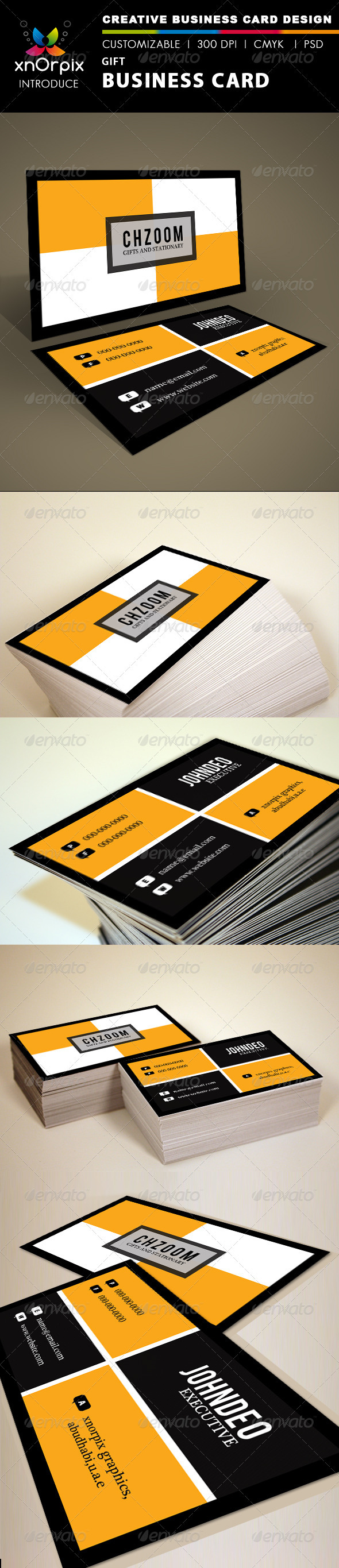 GraphicRiver Gift Business Card 1499014