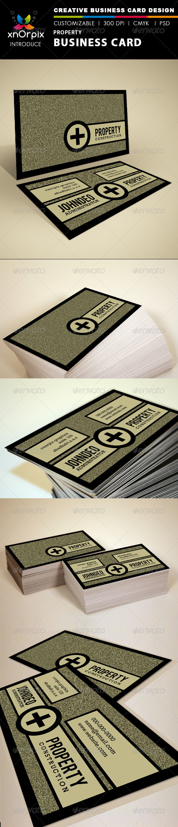 GraphicRiver Property Business Card 1499753