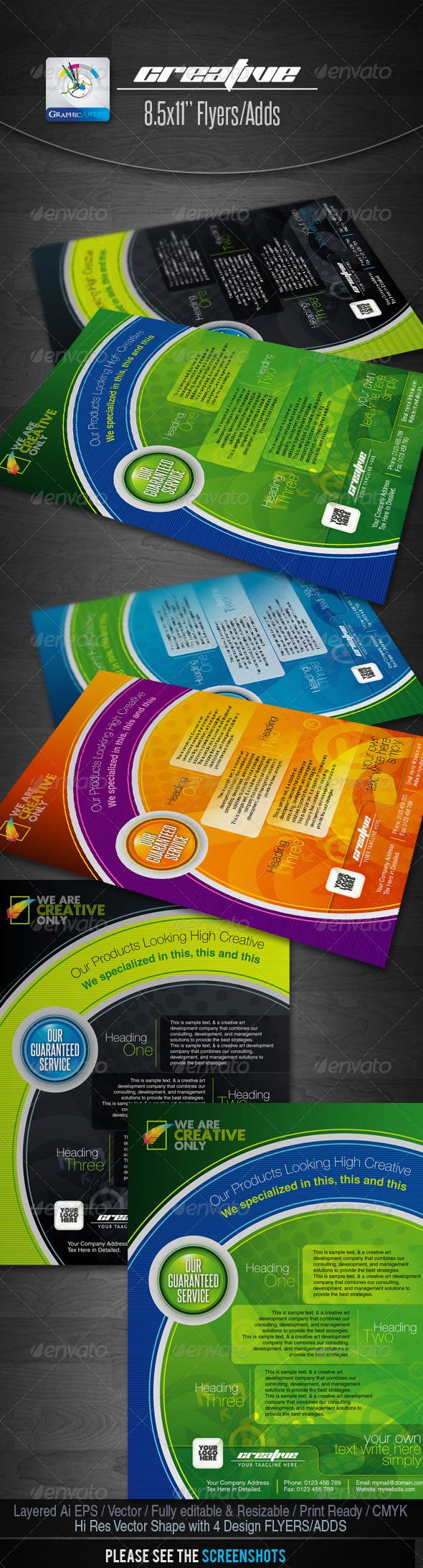 GraphicRiver Creative Flyers Adds 1500156