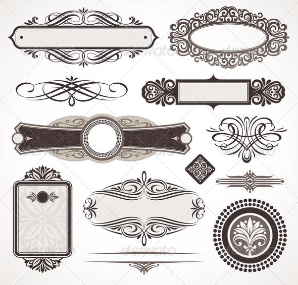 GraphicRiver Decorative Design Elements & Page Decor 1500596