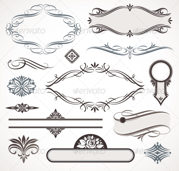 GraphicRiver Calligraphic Design Elements & Page Decor 1500637