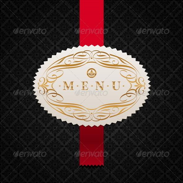 GraphicRiver Calligraphic Ornate Label of Menu 1500658