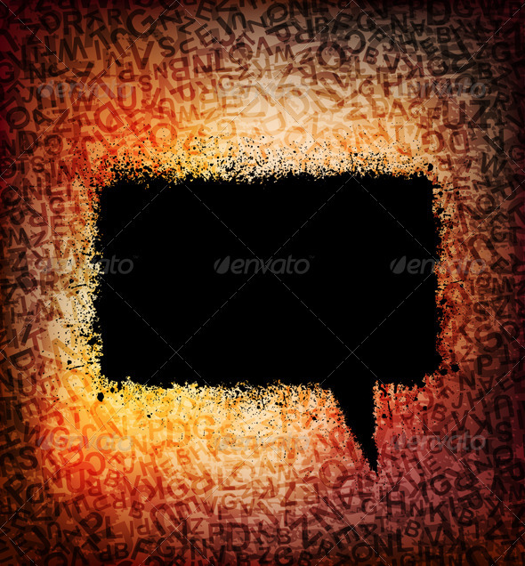 Graphic River Speech bubble Vectors -  Decorative  Backgrounds 1500767