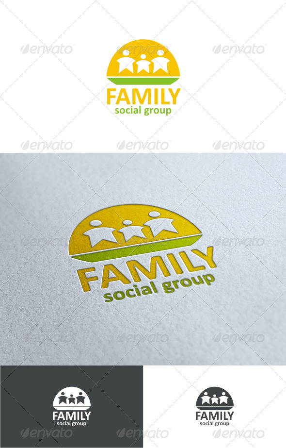 Graphic River Family social group Logo Templates -  Symbols 1501206