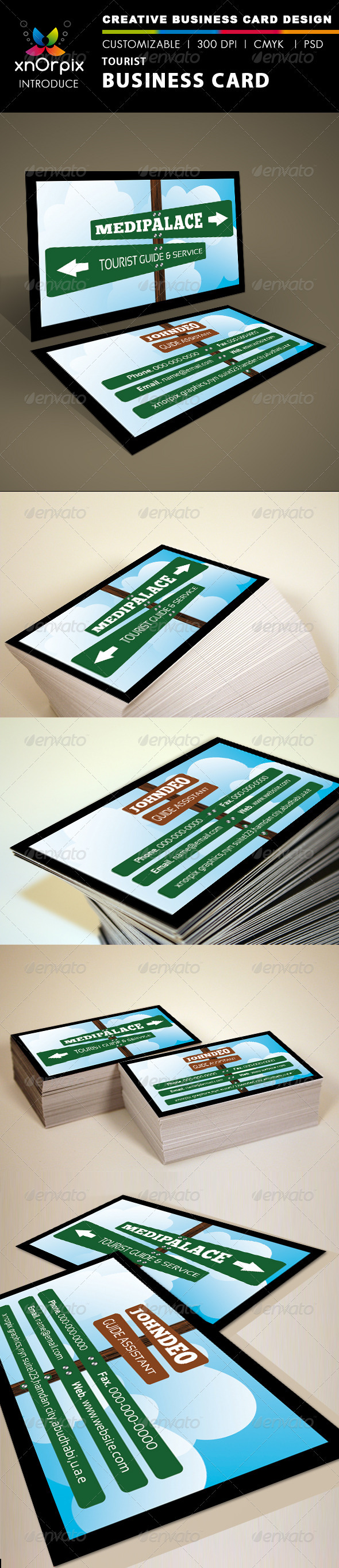 GraphicRiver Tourist Business Card 1501228