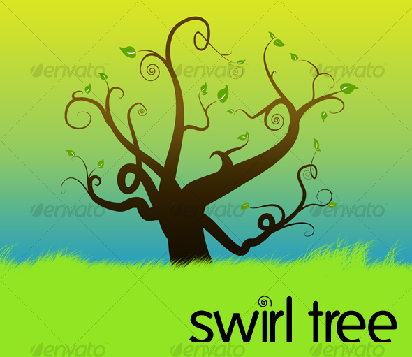 GraphicRiver swirl tree 59341