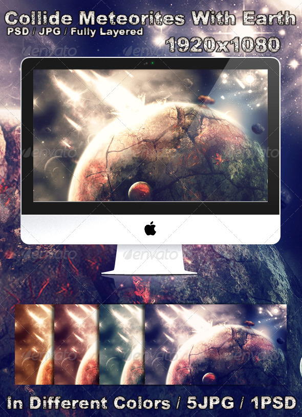 GraphicRiver Collide Meteorites With Earth 1503505