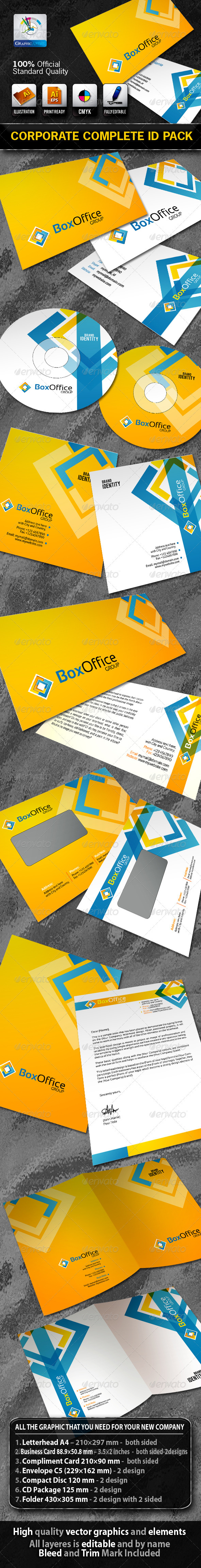 Graphic River BoxOffice Business Corporate ID Pack & Logo  Print Templates -  Stationery 1504660